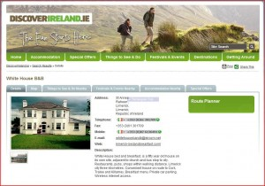 Limerick Bed and Breakfast on Discoverireland